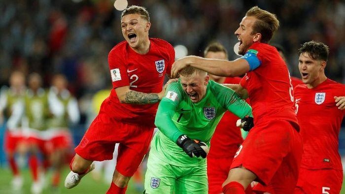 Timnas Inggris di Piala Dunia 2018. (Foto: John Sibley/Reuters)