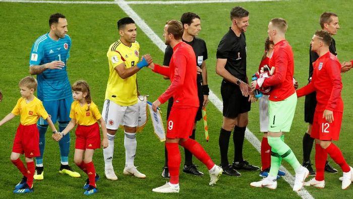 Kolombia berhadapan dengan Inggris di Spartak Stadium, Rabu (4/7/2018) dinihari WIB, dalam babak 16 besar Piala Dunia 2018. (Foto: Christian Hartmann/Reuters)
