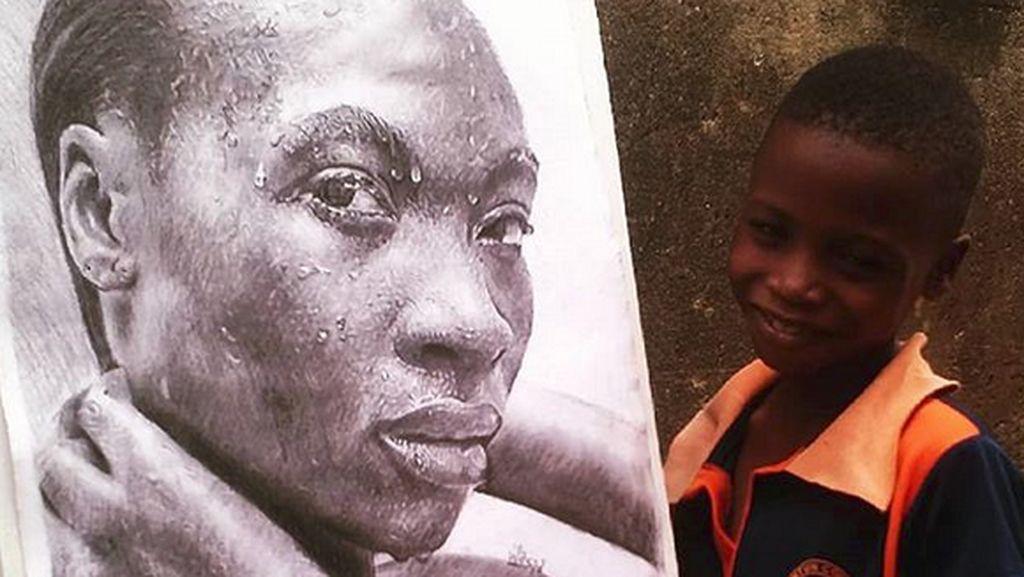 Keren! Lukisan Karya Bocah 11 Tahun Asal Nigeria