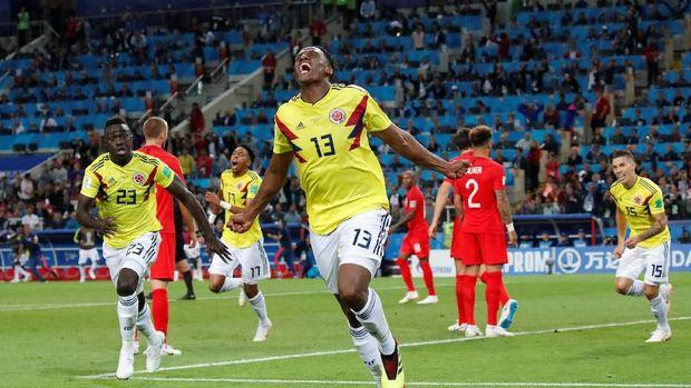 Timnas Kolombia tersingkir di babak 16 besar setelah kalah adu penalti dari Inggris