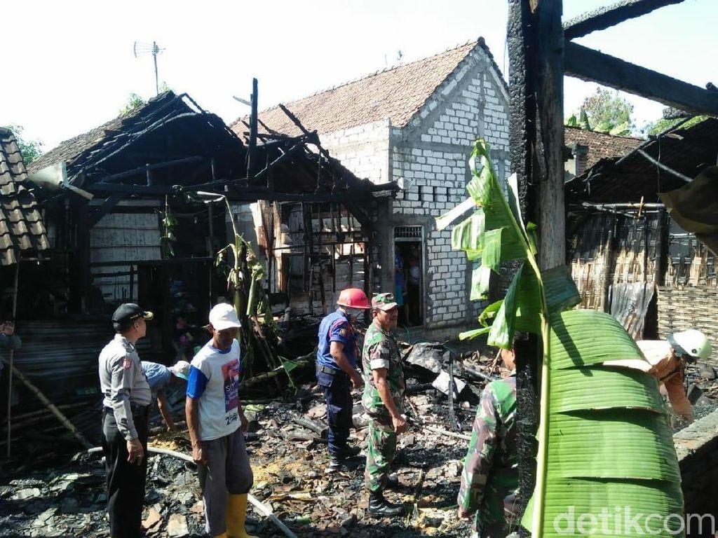 Empat Rumah Hangus Terbakar, Api Dipicu dari Tungku
