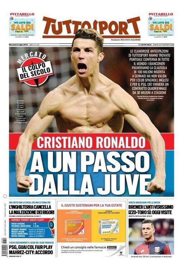 Media Media Internasional Mengabarkan Ronaldo Bakal Meninggalkan Real Madrid Dan Pindah Ke Juventus Selangkah