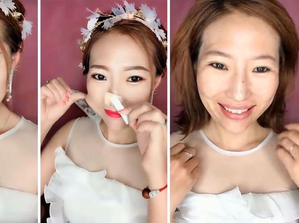 13 Transformasi Makeup di Aplikasi Tik Tok yang Hasilnya Bikin Syok