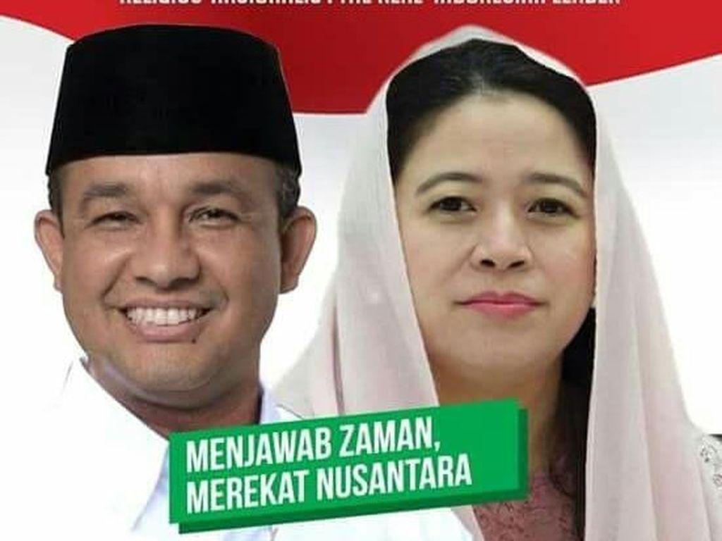 Poster Pilpres Ramaikan Medsos: Anies-Puan hingga Jokowi-BG