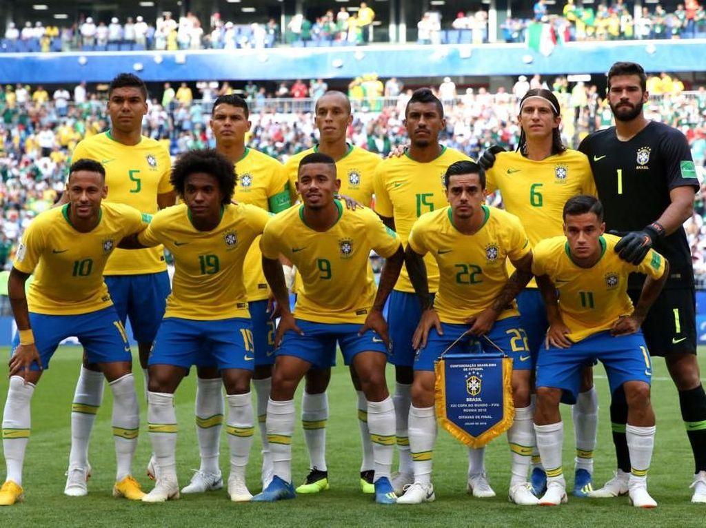Untuk Hadapi Belgia, Ban Kapten Brasil Pindah Tangan Lagi