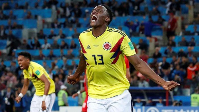 Yerry Mina mencetak tiga gol untuk Kolombia di Piala Dunia 2018 (Foto: Maxim Shemetov/Reuters)