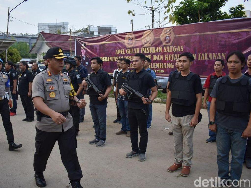 Jelang Asian Games, Polisi Razia Preman dan Begal di Palembang