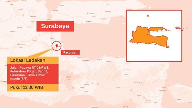 Ledakan di Pasuruan, Polisi Buru Pria Misterius Bawa Ransel