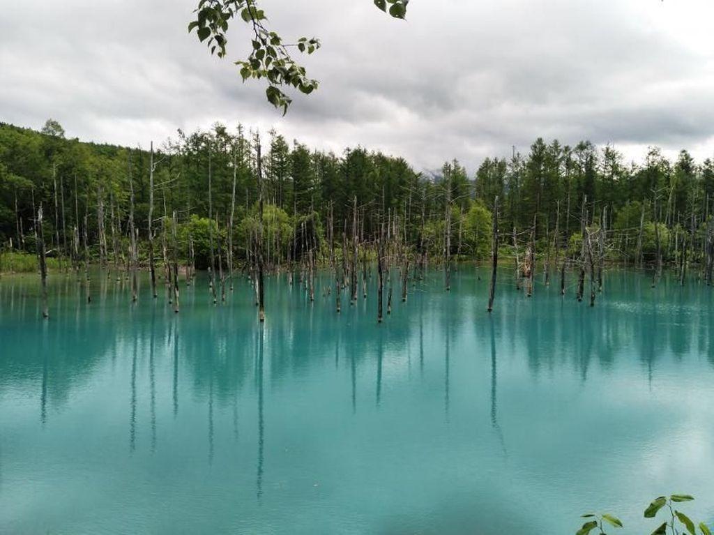 Bukan Belitung, Ini Telaga Biru di Hokkaido