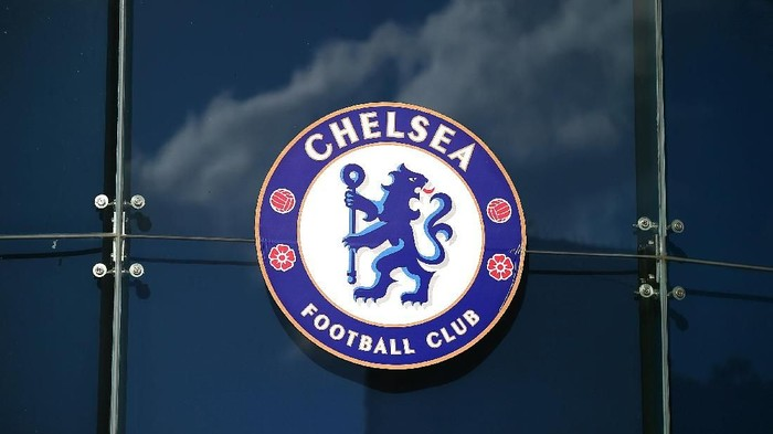 LONDON, ENGLAND - NOVEMBER 1: General view of a Chelsea Football Club logo during the Barclays Premier League match between Chelsea and Queens Park Rangers at Stamford Bridge on November 1, 2014 in London, England. (Photo by Clive Rose/Getty Images)