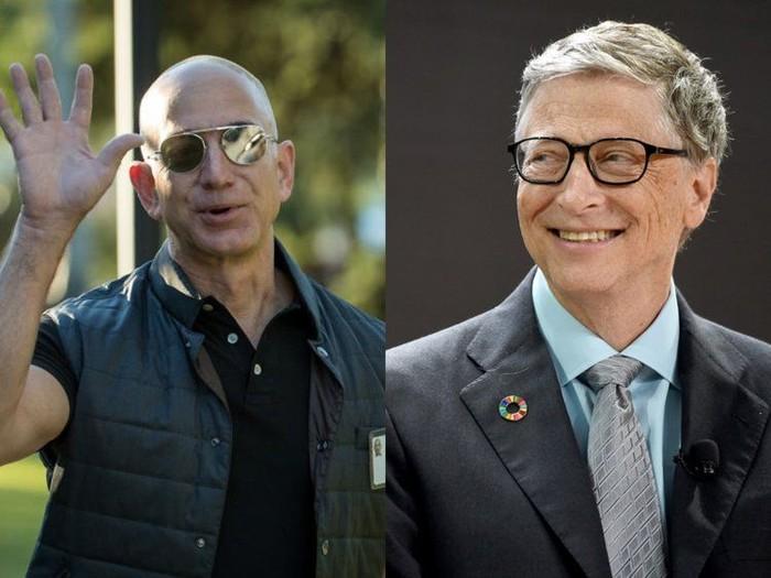 Jeff Bezos dan Bill Gates. Foto: Business Insider