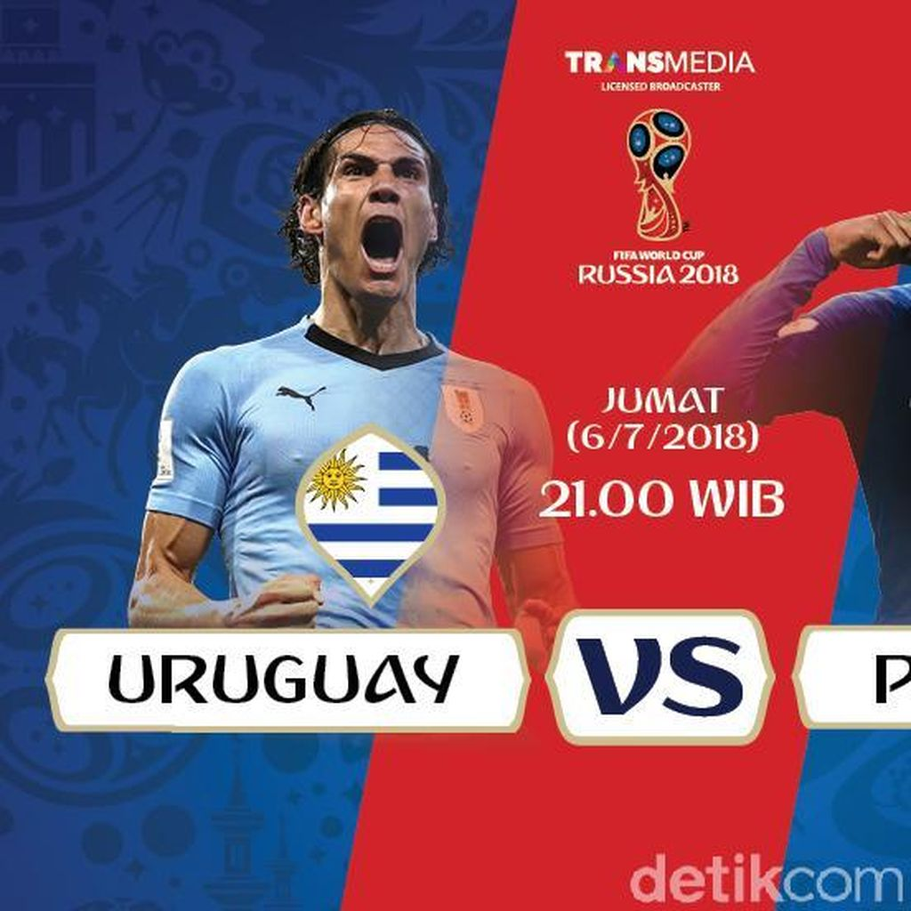 Live Report Piala Dunia 2018: Uruguay vs Prancis