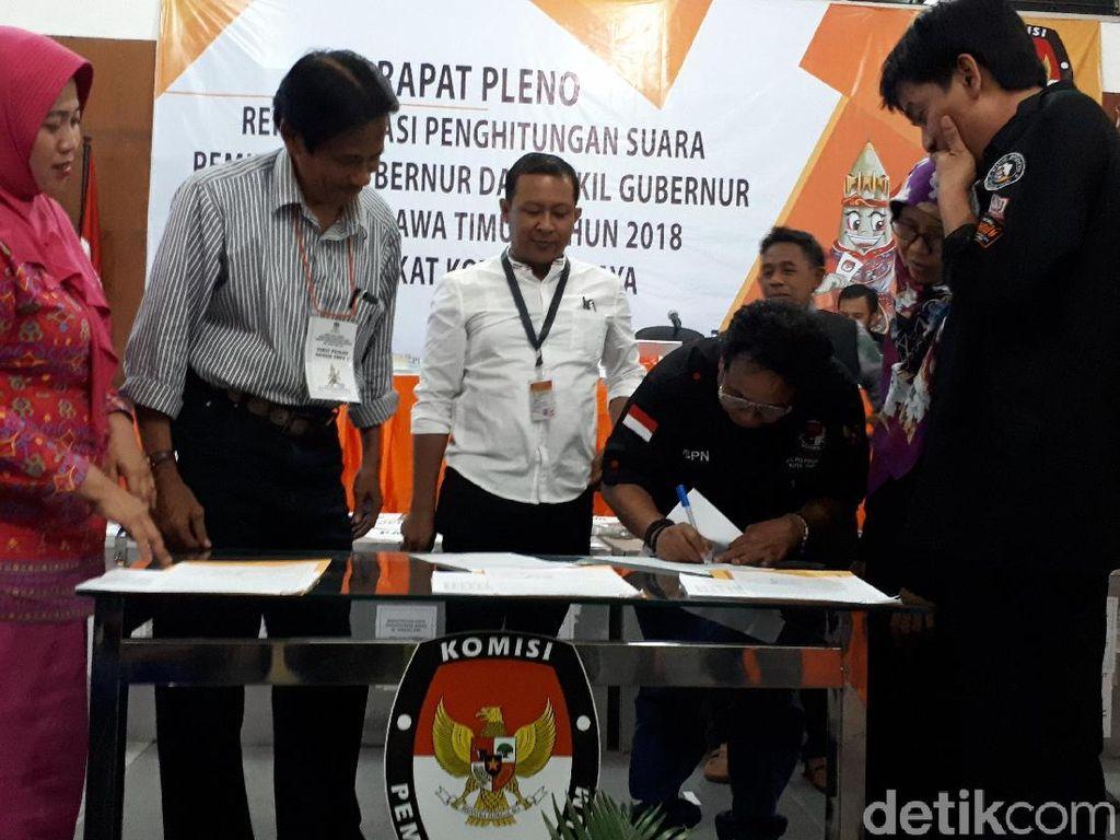 Rekapitulasi Pilgub Jatim, Khofifah-Emil Unggul di Surabaya