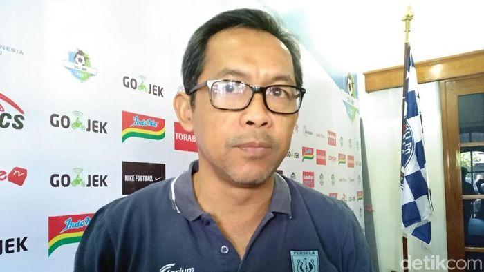 Pelatih Persela Lamongan, Aji Santoso. (Foto: Muhammad Aminudin/detikcom)