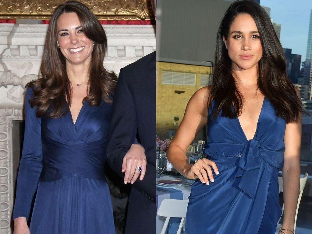 Momen Kate Middleton & Meghan Markle Pakai Baju Mirip, Siapa Lebih Stylish?