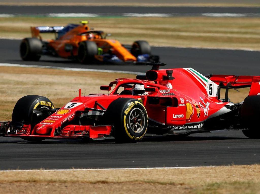Vettel Pimpin Latihan Bebas Kedua GP Inggris