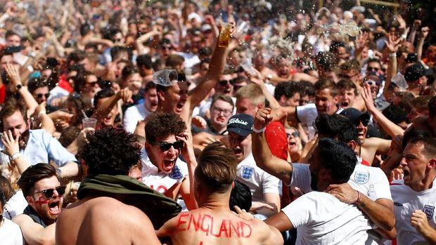 Suporter Inggris akan meneriakkan dukungan untuk timnya di semifinal Piala Dunia 2018.