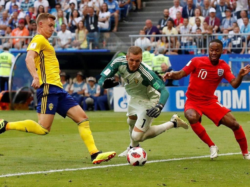 Hasil Pertandingan Piala Dunia 2018: Swedia vs Inggris Skor 0-2