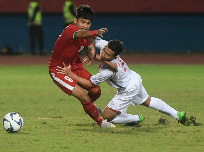 Timnas Indonesia U-19 vs Vietnam di Piala AFF U-19 2018. (Foto: Zabur Karuru/Antara)