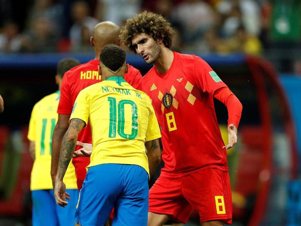 Brasil Vs Belgia: Neymar Ada di Saku Fellaini