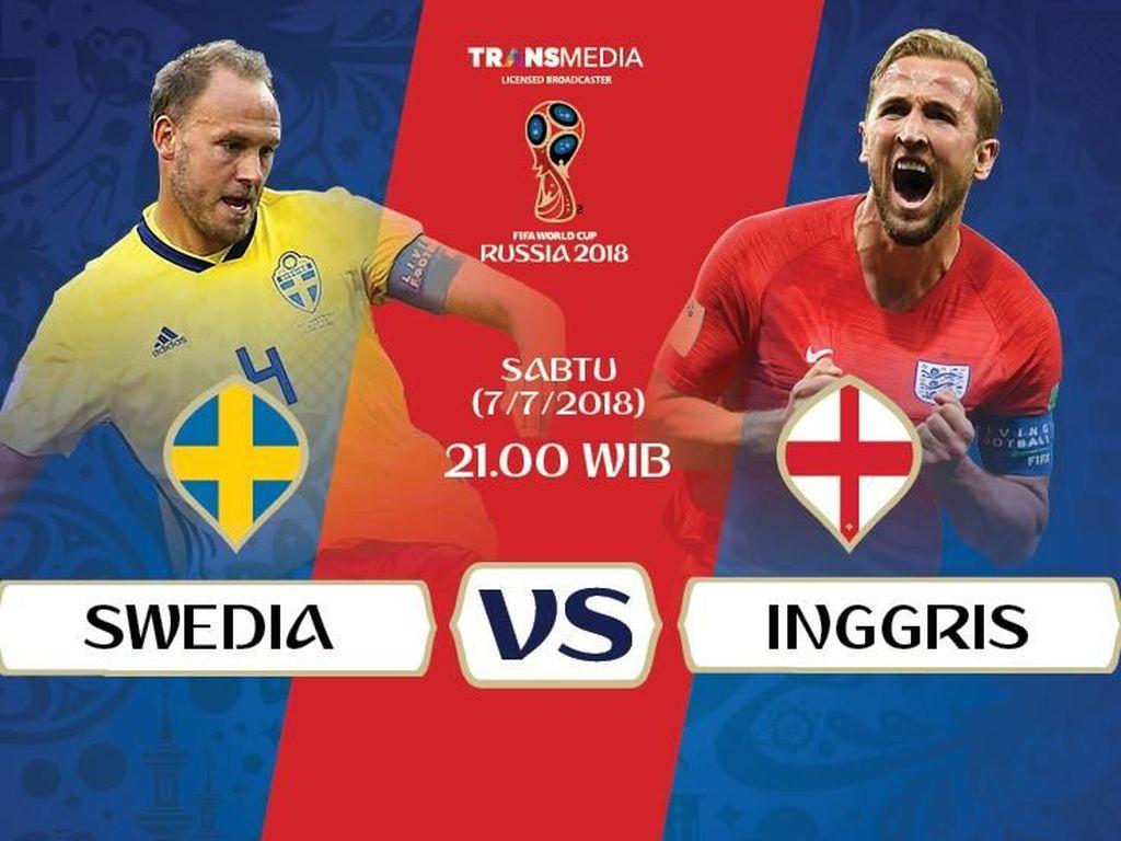 Live Report Piala Dunia 2018: Swedia vs Inggris