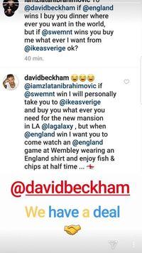 Swedia vs Inggris, Ibrahimovic dan Beckham pun Taruhan