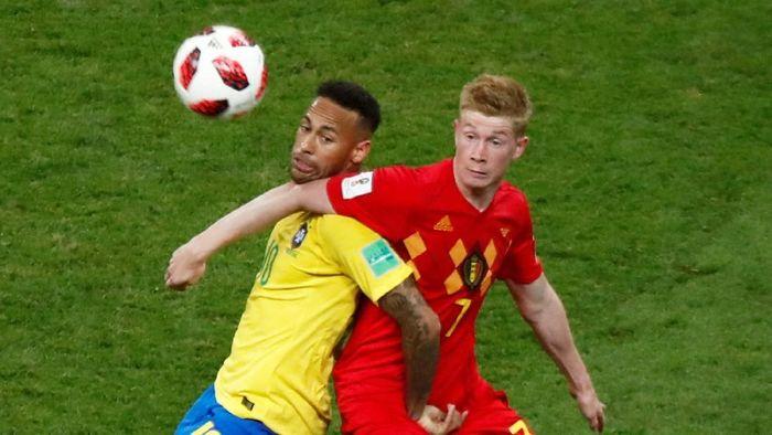 Brasil kalah 1-2 dari Belgia di perempatfinal Piala Dunia 2018 dan tersingkir. (Foto: Murad Sezer/REUTERS)