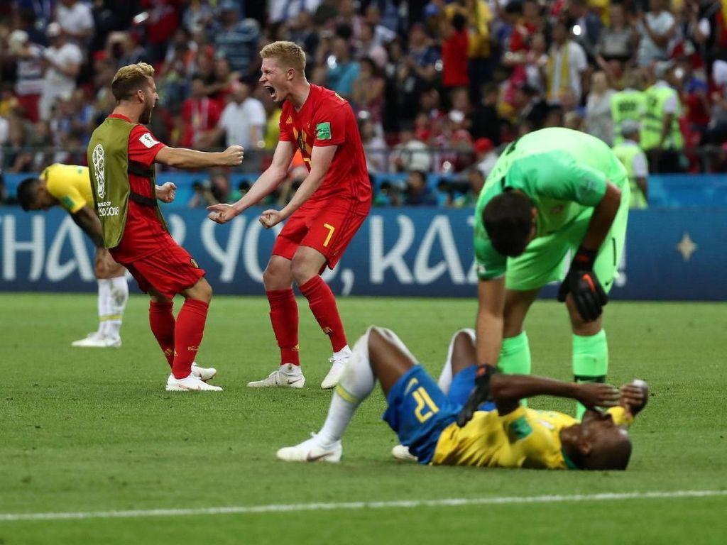 Menangi Laga Sengit Lawan Brasil, Belgia Lolos ke Semifinal