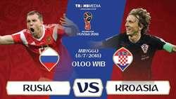Live Report Piala Dunia 2018: Rusia vs Kroasia
