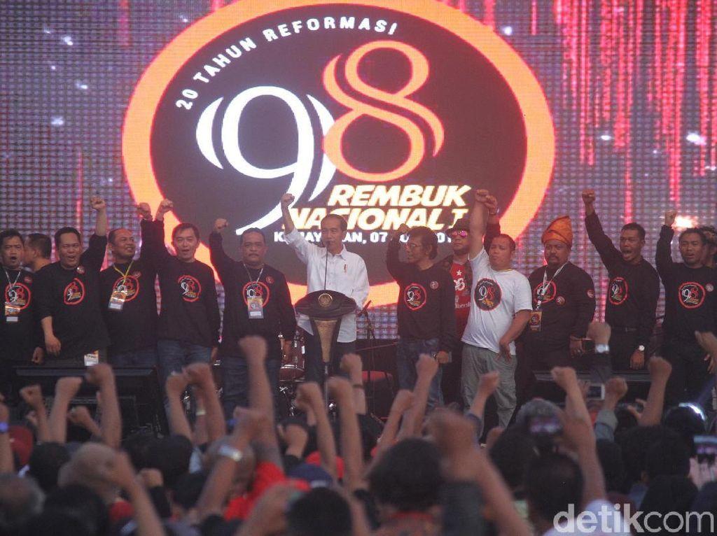 Aktivis 98 Bantah Ada Bagi-bagi Uang di Deklarasi Dukung Jokowi