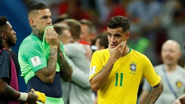 Langkah Brasil terhenti di perempatfinal Piala Dunia 2018