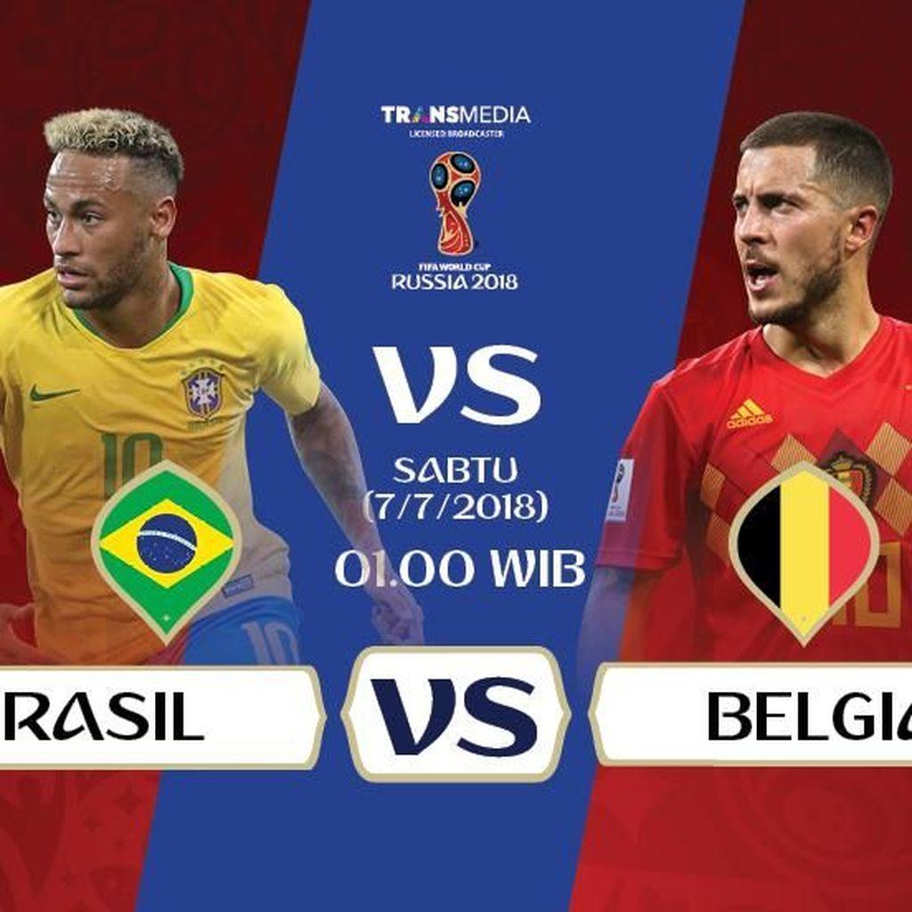 Live Report Piala Dunia 2018: Brasil vs Belgia