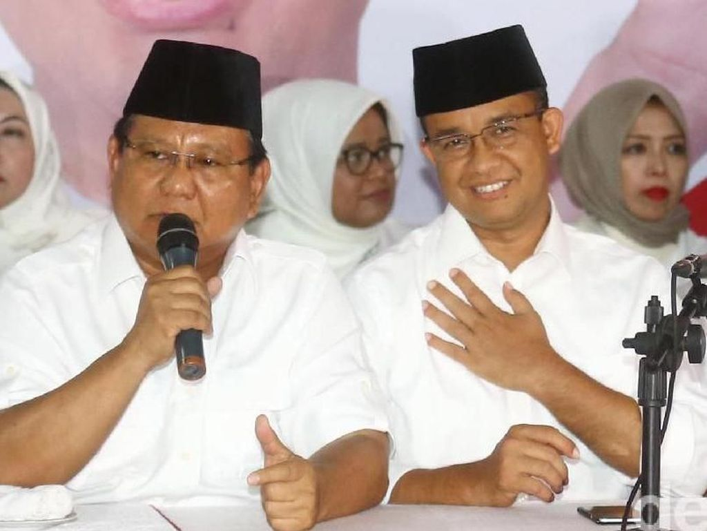 Survei Charta Politika: Elektabilitas Prabowo 19,3%, Anies 15,3%