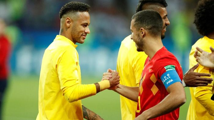 Belgia berhadapan dengan Brasil pada laga perempatfinal Piala Dunia 2018 di Kazan Arena, Kazan, Sabtu (7/7/2018) dinihari WIB. Foto: John Sibley/Reuters