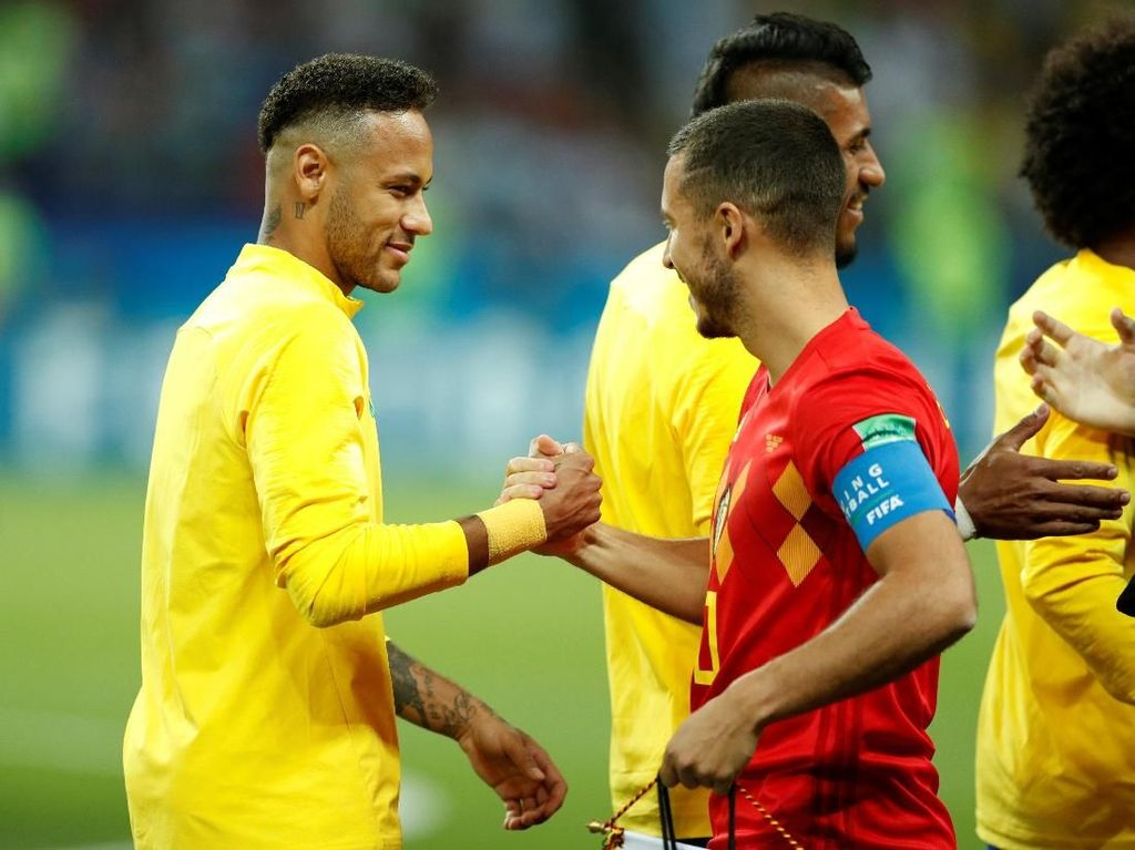 Belgia Kubur Brasil di Kazan Arena