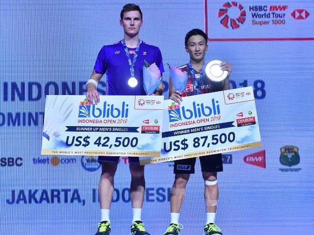 Momota Juara, Jepang Rebut Dua Gelar Indonesia Open 2018