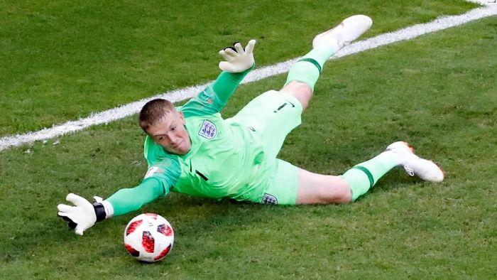 Jordan Pickford tampil luar biasa di Piala Dunia 2018 (David Gray/Reuters)