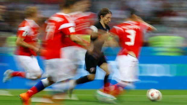 Luka Modric mengantar Kroasia untuk kali pertama lolos ke final Piala Dunia