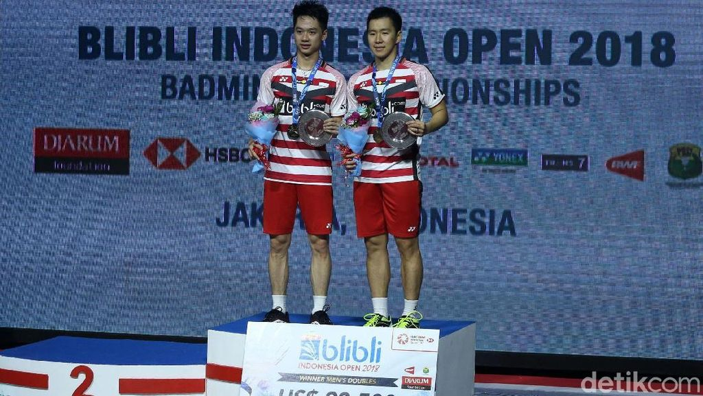 Gelar Pertama Kevin/Marcus di Indonesia Open