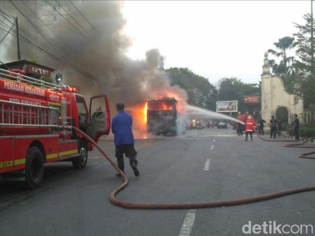 Bus Terbakar di Jurug Solo, Ini Dia yang Diduga Jadi Penyebabnya