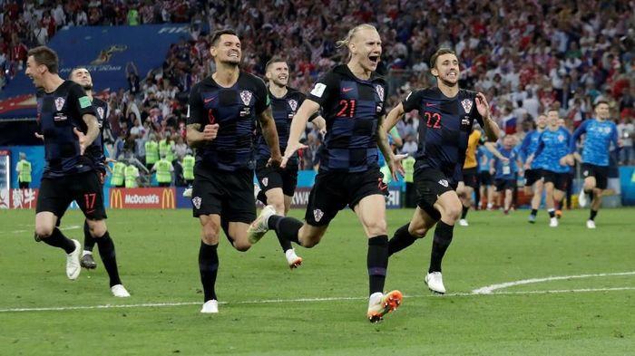 Wilayah yang kecil dan warga negara yang sedikit tak menghalangi mimpi Kroasia untuk jadi juara Piala Dunia (Henry Romero/Reuters)
