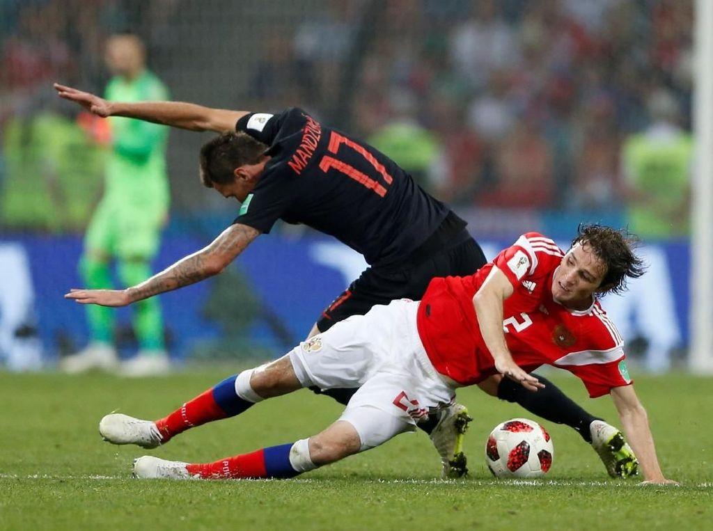 Hasil Pertandingan Piala Dunia 2018: Rusia vs Kroasia Skor 2-2 (Adu Penalti 3-4)