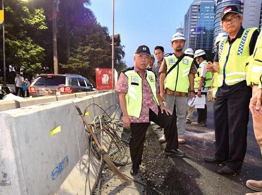Menteri Basuki Minta Jalan Sudirman Rapi Mulus Sebelum 31 Juli