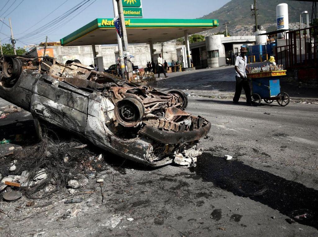 Aksi Protes Warga Haiti Imbas Kenaikan Harga BBM