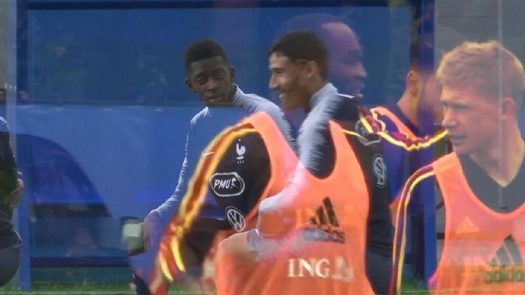 Saling Sikut Bintang Premier League di Laga Prancis Vs Belgia