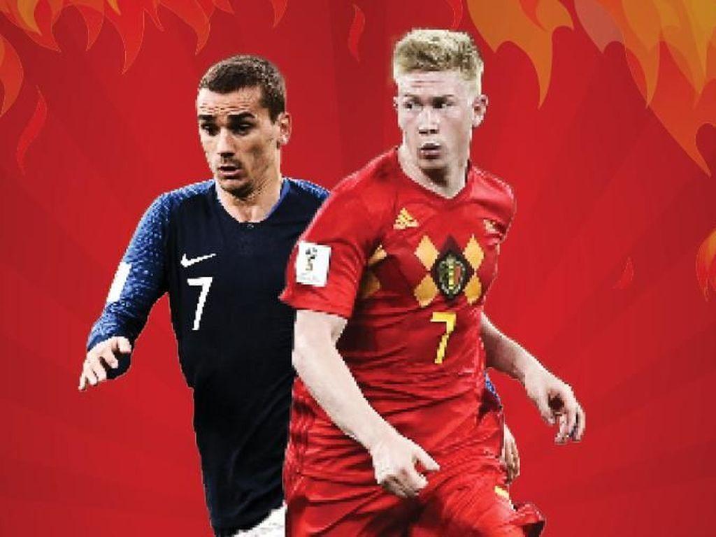 Jadwal Semifinal Piala Dunia 2018 Hari Ini