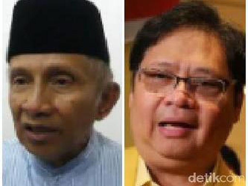 Airlangga Temui Amien Rais, Ajak Sukseskan Pemerintahan Jokowi
