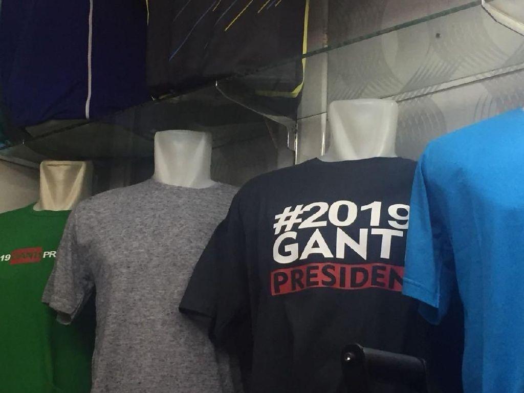 Dijual di Tanah Abang, Berapa Harga Kaos #2019GantiPresiden?