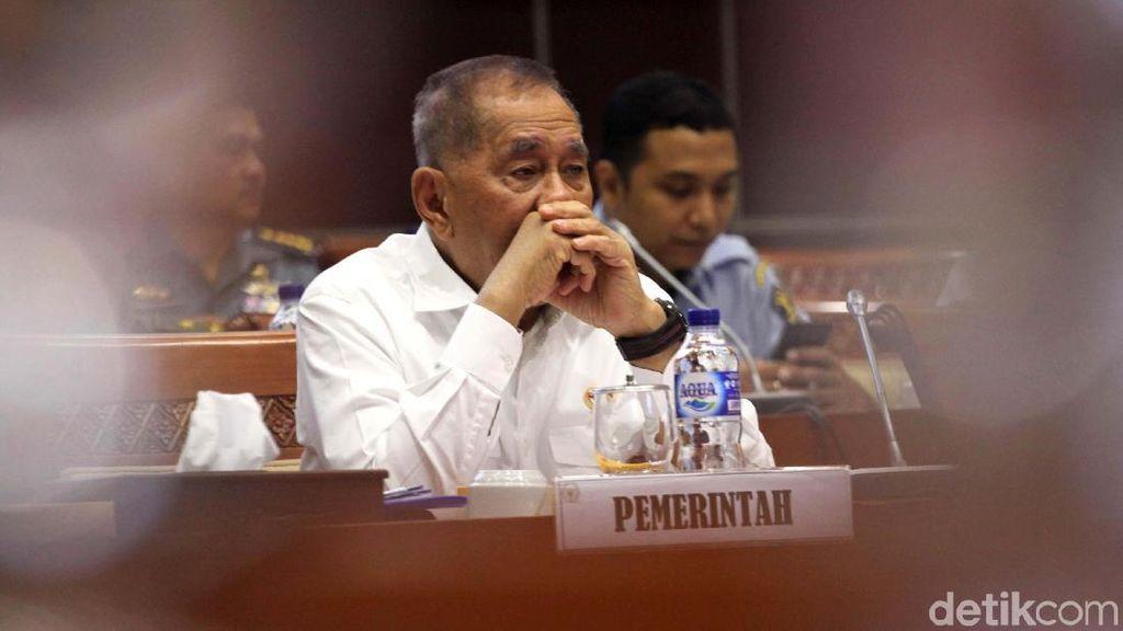 Menhan Raker dengan Komisi I DPR