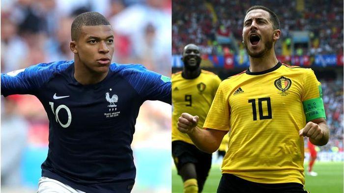 Prancis akan melawan Belgia di semifinal Piala Dunia 2018 (Foto: diolah dari Getty Images)